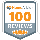 Home Advisor 100 Reviews! Award